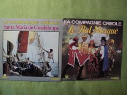 LA COMPAGNIE CREOLE. LOT DE DEUX 45 TOURS. 1984 / 1989 LE BAL MASQUE / SANTA MARIA DE GUADALOUPE... ZAGORA / CARRERE 17 - Vinyl Records