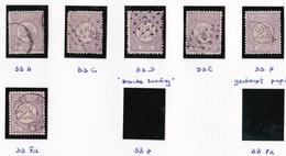 1876-1894 Cijfertype 2½ Cent Lila Alle Tandingen NVPH 33 B / F - Periode 1852-1890 (Willem III)