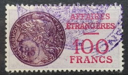 FRANCE Affaires Etrangeres Consular Service Revenue Fiscal Tax 100 F - Revenue Stamps