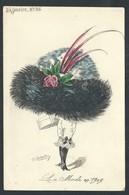 """+++ CPA - Fantaisie - Fantasy Card - Le Sourire N° 86 - Illustrateur ROBERTY - Femme - """"La Mode En 1909"""""""" - Chapeau  // - Mode"""