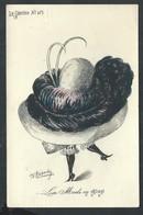 """+++ CPA - Fantaisie - Fantasy Card - Le Sourire N° 101 - Illustrateur ROBERTY - Femme - """"La Mode En 1909"""""""" - Chapeau  // - Mode"""