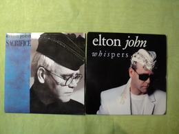 PAIRE DE 45 TOURS ELTON JOHN. 1989 / 1990 SACRIFICE / LOVE IS A CANNIBAL / WHISPERS / MEDICINE MAN. PG 102 876 330 7 / - Soul - R&B