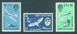 GILBERT ELLICE -  MNH/** - 1964 - FIRST AIR SERVICE - Yv 77-79 -  Lot 18273 - Îles Gilbert Et Ellice (...-1979)
