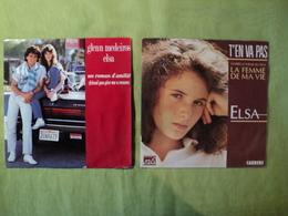 PAIRE DE 45 TOURS ELSA. 1989 /  UN ROMAN D AMITIE DUO AVEC GLENN MEDEIROS / YOU RE MY WOMAN YOU RE MY LADY / T EN VA PA - Vinyles