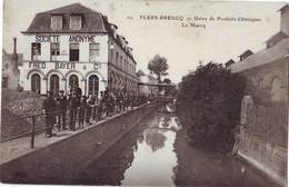 148  AB  CPA  Flers Breucq Usine De Produit Chimiques Carte Bon état - France