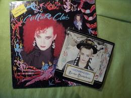 CULTURE CLUB. LOT D UN 45 TOURS ET D UN 33 TOURS. 1983 /  KARMA = CHAMELEON / THAT S THE WAY / DANGEROUS MAN / THE WAR - Disco, Pop