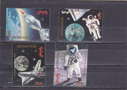 Mongolie Neuf 1994   N° 2017/2020  Espace. 25e Anniversaire Du 1er Homme Sur La Lune - Mongolie