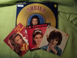 SHEILA. LOT D UN 33 TOURS DE DEUX 45 TOURS 4 TITRES ET D UN 45 TOURS. 1966 / 1980 PILOTE SUR LES ONDES / L AMOUR AU TEL - Vinyles