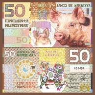KAMBERRA 50 Numismas 2019 Polymer UNC. Year Of The Pig - Billets