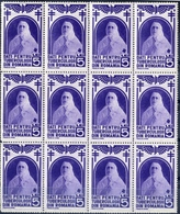 "Romania TIMBRU DE AJUTOR  HELP HERITAGE STAMP ""Give 5 Lei For Tuberculos In Romania"" Block 12 MNH - 1918-1948 Ferdinand I., Charles II & Michel"