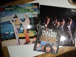 ROLLING STONES. LOT DE DEUX 33 TOURS ET D UN 45 TOURS. 1971 / 1976 FOOL TO CRY / CRAZY MAMA / ROUTE 66 / I JUST WANT TO - Rock
