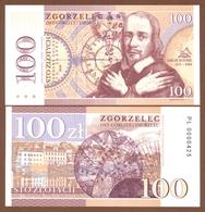 ZGORZELEC (Poland) 100 Zlotych 2018 UNC. Jakob Böhme. Private Essay. Specimen. - Billets
