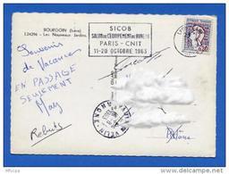 Ar2370 Secap Lyon Sicob Paris Rhone 15/08/1963 / CP - Marcophilie (Lettres)