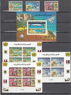 Libya 1977,3V+4 Blocks,IMP,centenario De La UPU 1874-1974,Union Postale Universelle,MNH/Postfris(L3346) - UPU (Universal Postal Union)