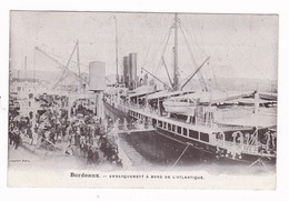 Rare CPA Bordeaux (Gironde), Paquebot L'Atlantique, A Voyagé, Années 1900 - Steamers