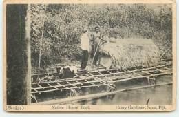 Harry Gardiner Suva Fiji - Native House Boat - Fidji