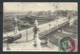 +++ CPA - BRUSSEL - BRUXELLES - MOLENBEEK - Boulevard Du Jubilé - Tram - Henri Georges  // - Molenbeek-St-Jean - St-Jans-Molenbeek