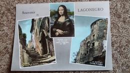 CPSM SOUVENIR DE LAGONEGRO MONNA LISA DEL GIOCONDO MORTA A LAGONEGRO NEL 1506 MONA LISA LA JOCONDE - Greetings From...