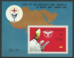 BIAFRA 1969 VISIT OF POPE MS MNH - Postzegels