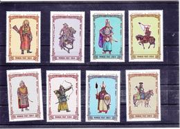 Mongolie Neuf ** 1997    N° 2106/2113 + Bloc 235     Histoire.  Soldats De Gengis Khan (2 Scans) - Mongolie