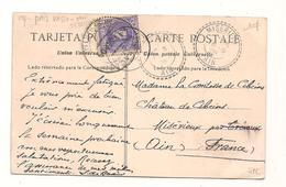 Espagne - Pais Vasco - San Sebastien  - Martutene -  Ain -  Miserieux - Marcophilie -  Voir  Verso - CPA° - Marcophilie - EMA (Empreintes Machines)