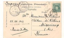 Espagne - Cataluna - Barcelone - Centellas San Martin -  Ain -  Miserieux - Marcophilie -  Voir  Verso - CPA° - Marcophilie - EMA (Empreintes Machines)