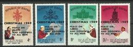BIAFRA 1969 CHRISTMAS,OVERPRINTED SET MNH - Postzegels