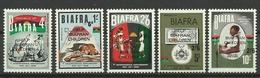 BIAFRA 1970 HELP BIAFRAN CHILDREN OVERPRINTED SET MNH - Sonstige - Afrika
