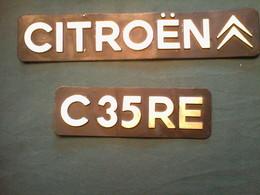 Plaque Minéralogique  Ancienne De  CITROEN - Plaques D'immatriculation