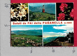 CARTOLINA VG ITALIA - Saluti Da FAI DELLA PAGANELLA (TN) - Vedutine Multivue - 10 X 15 - ANN. 1974 PETRARCA - Saluti Da.../ Gruss Aus...