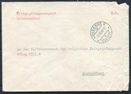 """1942 Switzerland Belgium POW Kriegsgefangenpost Lausanne """"Aide Aux Prisonniers & Internes Belges"""" Cover Oflag 8C Germany - Storia Postale"""