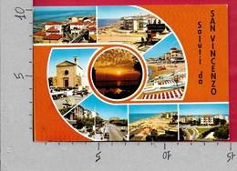 CARTOLINA VG ITALIA - Saluti Da SAN VINCENZO (LI) - Vedutine Multivue - 10 X 15 - ANN. 1975 - Saluti Da.../ Gruss Aus...