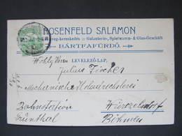 WERBUNG Bartfafürdö - Wurzelsdorf Bardejovske Kupele 1913 Salamon Rosenfeld ///  D*35531 - Lettere
