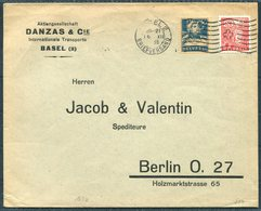 1935 Switzerland Danzas & Co. Basel Perfin Cover - Jacob & Valentin, Berlin Germany - Switzerland