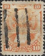 BOLIVIA 1878 Arms - 10c - Orange FU - Bolivia
