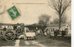 119. CPA 47 ST-JULIEN-DE-FARGUES. LA PLACE 1908 - Altri Comuni
