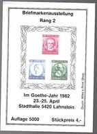 Göthe 1949 Block Rheinland-Pfalz MNH (125) - Zona Francese