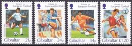 Gibraltar, 1996, 759/62, Fußball-Europameisterschaft, England.  MNH **, - Gibraltar