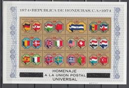 Honduras 1974,12V In Sheetlet,centenario De La UPU 1874-1974,Union Postale Universelle,MNH/Postfris(L3350) - UPU (Universal Postal Union)
