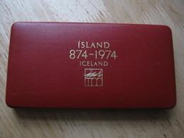 Iceland 1974 2 Coin Set  Proof Royal Mint 500 & 1000 Kronur Silver Boxed + COA - Islande