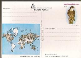 Mozambique ** & Postal Stationery, Distribution Of Species, Watercolor By F. Jofane, Falcão, Falco Peregrinus 1983 (7994 - Mozambique