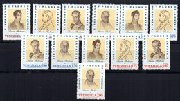 Serie Nº A-980/991  Venezuela - Venezuela