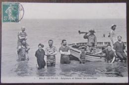 France - CPA Malo-Les-Bains - Baigneurs Et Bâteau De Sauvetage - Carte Animée, Circulée En 1908 - Malo Les Bains