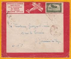 31 01 1923 - Précurseur Avion Ligne Latécoère France-Maroc - Enveloppe De Fez Vers St Germain En Laye - Affrt 75 C - Lettres & Documents