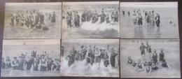 France - CPA Malo-Les-Bains - Lot De 6 Cartes Postales Du Même Expéditeur - Scènes De Plage - Circulées En 1917 - Malo Les Bains