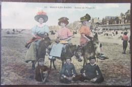 France - CPA Malo-Les-Bains - Scène De Plage - Carte Couleur Animée (femmes, Enfants, ânes) Circulée Le 15 Juin 1915 - France