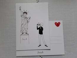 "FRESH    "" Carte Postale   !! - Perfume Cards"