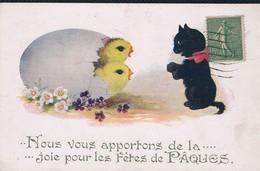 Chat Humanisés - Black Cat -katzen Menschlich-   Poes En Kuikens - Chats