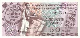 BURUNDI P. 28a 50 F 1979 UNC - Burundi