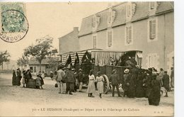CPA 24 LE BUISSON. DEPART POUR LE PELERINAGE DE CADOUIN 1906 - France